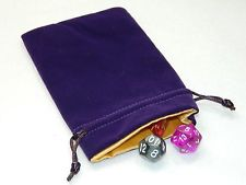 Satin lined Velvet dice bag