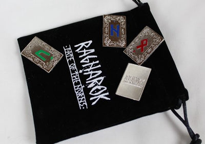 Fate of the Norns ~ Ragnarok : Futhark stainless steel runes set