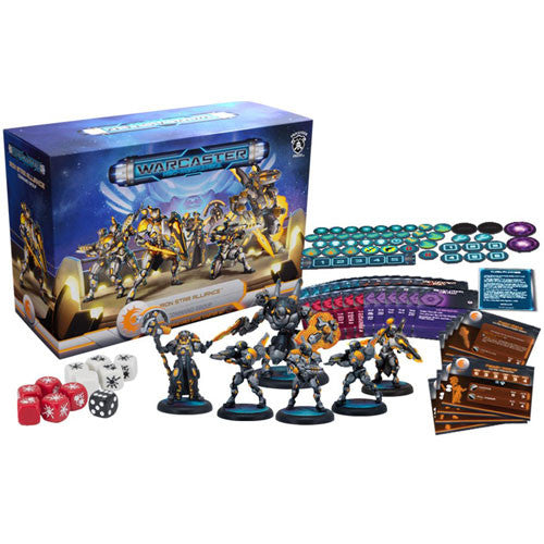 Warcaster Neo-Mechanica : Iron Star Alliance command group - starter set