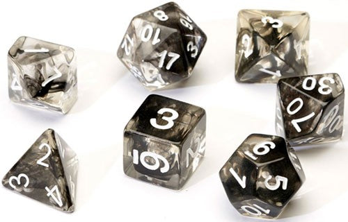 Sirius Dice Set- Translucent Black Cloud