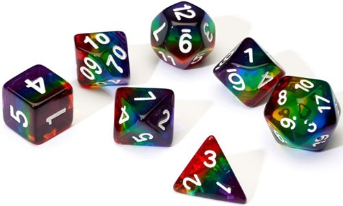 Sirius Dice Set- Translucent Rainbow
