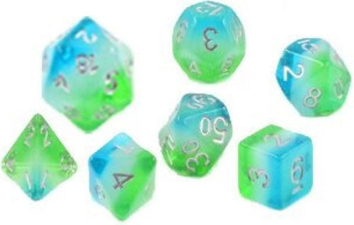 Sirius Dice Set-  Blue Hawaiian