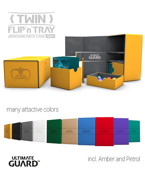Ultimate Guard : Twin Flip 'n' Tray 160+ (12 color opitions)