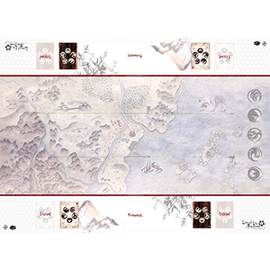 Legend of the Five Rings - Honored Duel two-player playmat