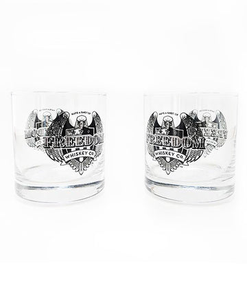 Freedom Whiskey Glasses (Set of 2)