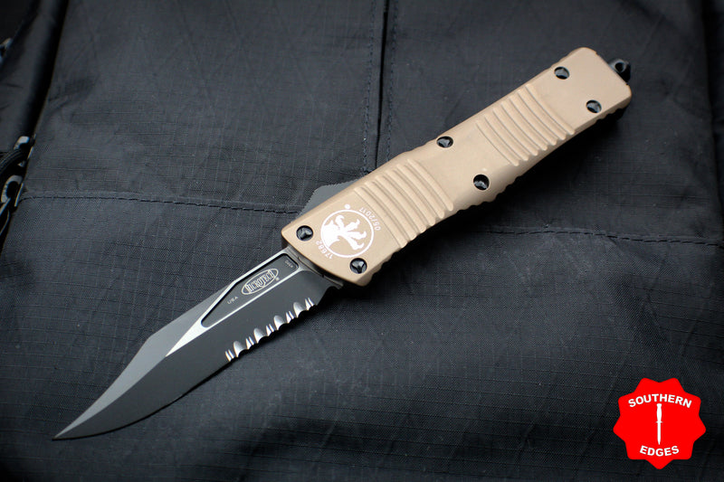Microtech Combat Troodon Bowie Style Blade Out the Front Knife
