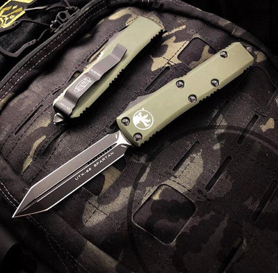 Microtech UTX-85 Spartan Edge Out The Front Knife