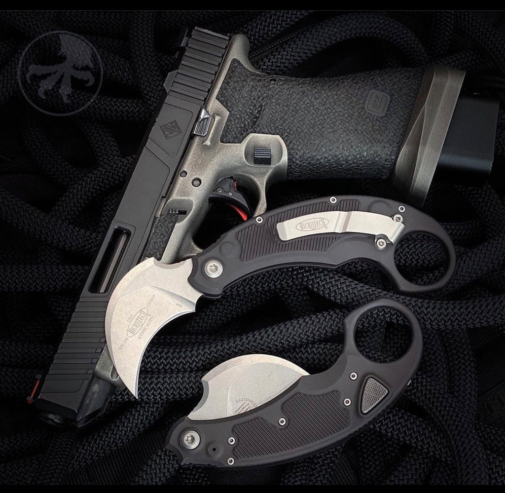 Microtech Iconic Auto Karambit OTS Out The Side Auto