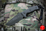 Microtech Currahee OD Green Handle and OD Green Drop Point Fixed Blade 102-1 GR