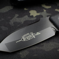 Microtech Currahee Black Handle and Black Tanto Edge Fixed Blade 103-1