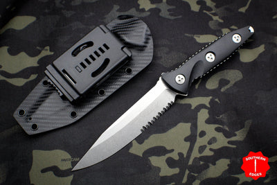 Microtech Socom Alpha Black Single Edge Fixed Blade 113-11