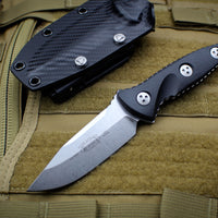 Microtech Socom Alpha Mini Single Edge Fixed Stonewash Blade 113M-10