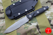 Microtech Socom Alpha Tanto Apocalyptic Fixed Part Serrated Blade 114-1 AP