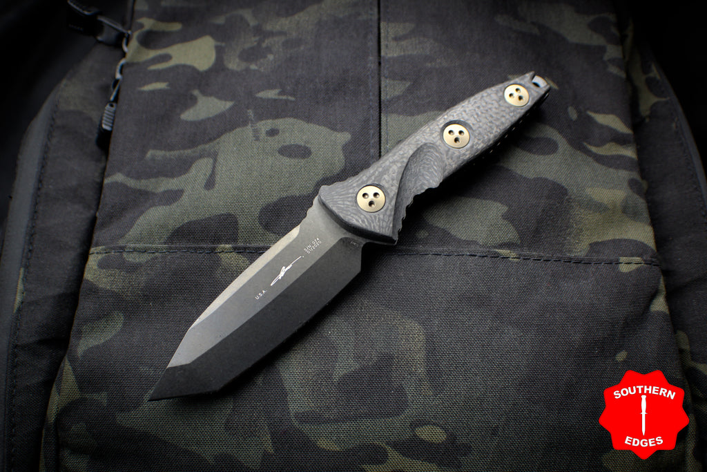 Microtech Socom Alpha Mini Tanto Black DLC Fixed Blade 114M-1 DLC