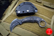 Microtech MATCHING SET SERIAL NUMBER 055 Iconic Karambit Fixed Blade 118-10 R AND 118-1 DLCSR