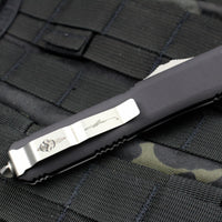 Microtech Ultratech Clear Top Hellhound Tanto OTF Knife Stonewash Blade 119-10 CL