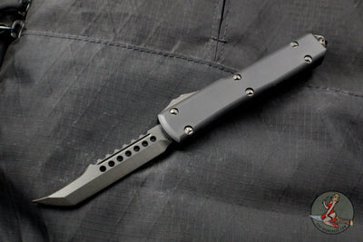 Microtech Ultratech Hellhound Tanto OTF Knife DLC Blade Black Hardware 119-1 DLCTS No Logo Version
