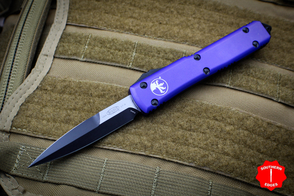 Microtech Ultratech Purple Bayonet Edge OTF Knife black Blade 120-1 PU