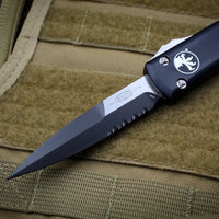 Microtech Ultratech Black Bayonet OTF Knife Part Serrated Black Blade 120-2