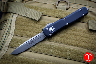 Microtech Ultratech Black Single Edge OTF Knife Apocalyptic Blade 121-10 AP