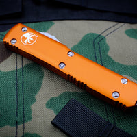Microtech Ultratech Orange Single Edge OTF Knife Stonewash Blade 121-10 OR
