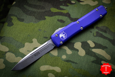 Microtech Ultratech Purple Single Edge OTF Knife Stonewash Blade 121-10 PU