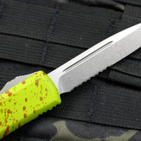 Microtech Ultratech Zombietech Single Edge OTF Knife Stonewash Part Serrated Blade 121-11 Z
