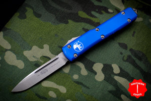 Microtech Ultratech Blue Single Edge OTF Knife Bronzed Blade 121-13 BL