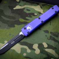 Microtech Ultratech Purple SE OTF Knife Black Tactical Blade 121-1 PU