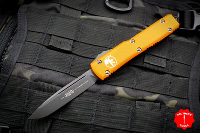 Microtech Ultratech Orange Single Edge OTF Knife FULL DLC Tactical Black Blade 121-1 DLCTOR