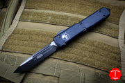 Microtech Ultratech Black Single Edge OTF Knife DLC Tactical Black Blade 121-1 DLCT