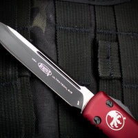 Microtech Ultratech Merlot Red Single Edge OTF Knife Black Blade 121-1 MR