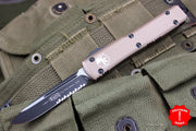 Microtech Ultratech Tan S/E OTF Knife Tactical Part Serrated Black Blade 121-2 TA
