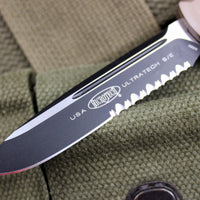 Microtech Ultratech Tan S/E OTF Knife Tactical Part Serrated Black Blade 121-2TA