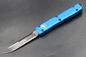 Microtech Ultratech Blue S/E OTF Knife Tactical Part Serrated Black Blade 121-2 BL