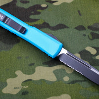 Microtech Ultratech Turquoise Single Edge OTF Knife Part Serrated Blade 121-2 TQ
