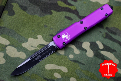 Microtech Ultratech Violet Single Edge OTF Knife Part Serrated Blade 121-2 VI