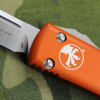 Microtech Ultratech Orange Single Edge OTF Knife Satin Blade 121-4 OR