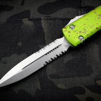 Microtech Ultratech Zombietech Double Edge OTF Knife Part Serrated Stonewash Blade 122-11 Z