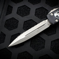 Microtech Ultratech Black Double Edge OTF Knife Apocalyptic Full Serrated Blade 122-12 AP