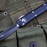 Microtech Ultratech Black Double Edge OTF Knife Black Blade 122-1