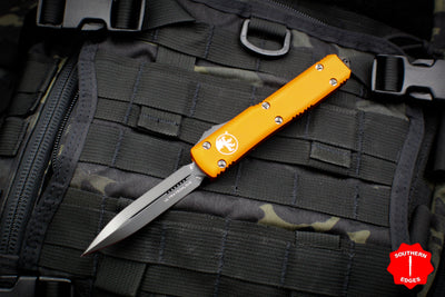 Microtech Ultratech Orange Double Edge OTF Knife FULL DLC Tactical Black Blade 122-1 DLCTOR