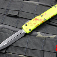 Microtech Ultratech Zombietech Double Edge OTF Knife Black Blade 122-1 Z