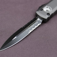 Microtech Ultratech Gray D/E OTF Knife Black Part Serrated Blade 122-2 GY