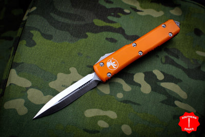 Microtech Ultratech Orange Double Edge OTF Knife Satin Blade 122-4 OR