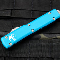 Microtech Ultratech Turquoise D/E OTF Knife Satin Blade 122-4 TQ