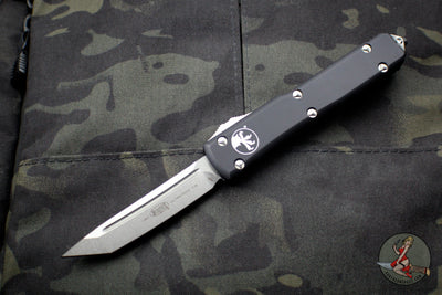 Microtech Ultratech Black Tanto Edge OTF Knife Stonewash Blade 123-10