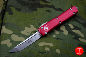 Microtech Ultratech Red Tanto Edge OTF Knife Stonewash Blade 123-10 RD