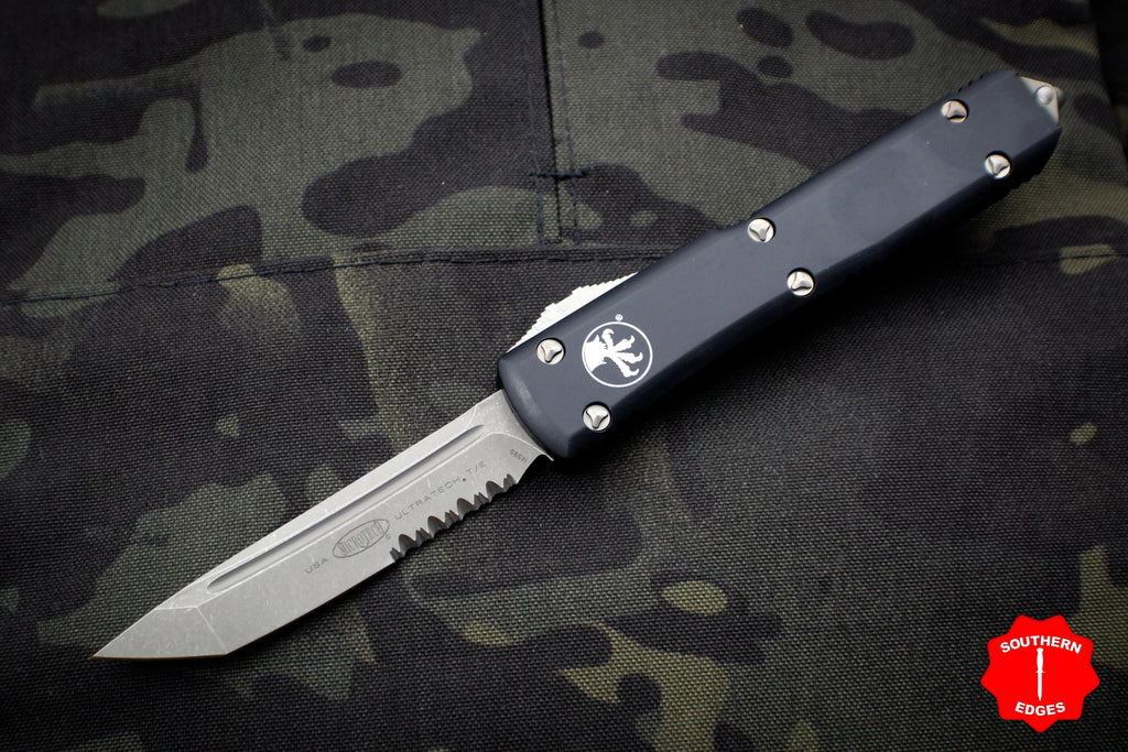 Microtech Ultratech Black Tanto Edge OTF Knife Part Serrated Apocalyptic Finished Blade 123-11 AP
