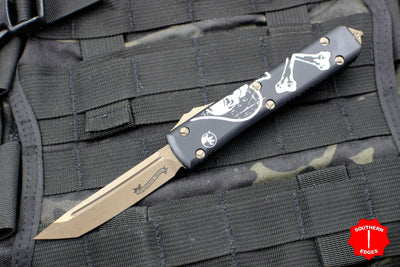 Microtech DEATH CARD Ultratech Tanto Edge OTF Knife Bronze Blade 123-13 DC